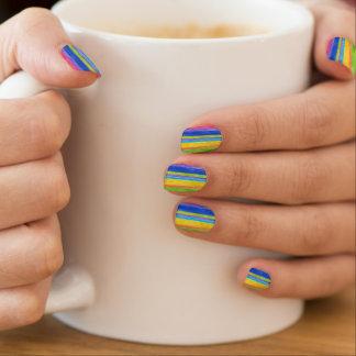 Aquarell-Streifen Minx Nagelkunst
