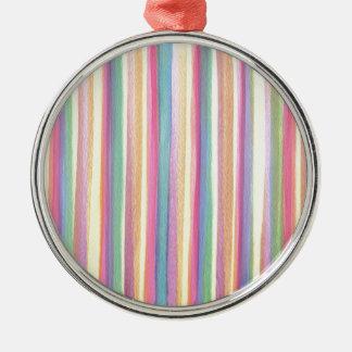 Aquarell-Streifen Silbernes Ornament