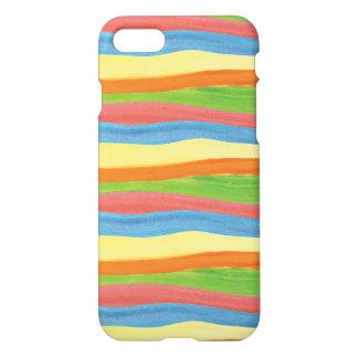 Aquarell Stripes Kasten iPhone 8/7 Hülle