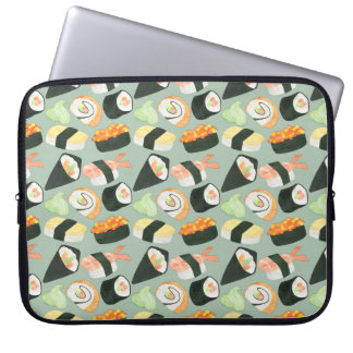 Aquarell-Sushi-Muster Laptop Sleeve