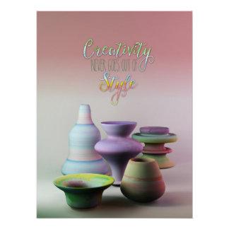 Aquarell-Tonwaren-Kreativität erlischt nie Art Poster