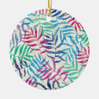 Aquarell-tropische Palmblätter Keramik Ornament