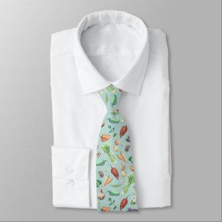 Aquarell-Veggies-u. Gewürz-Muster Bedruckte Krawatten