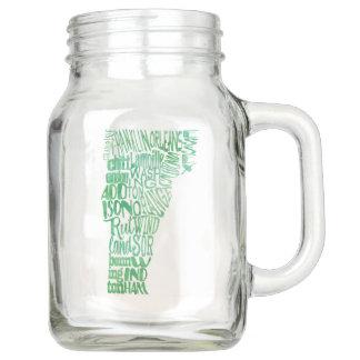 Aquarell-Vermont-Typografie-Weckglas Einmachglas