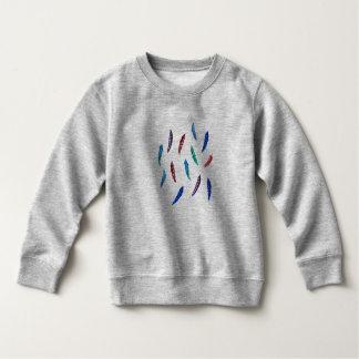 Aquarell versieht Kleinkind-Sweatshirt mit Federn Sweatshirt
