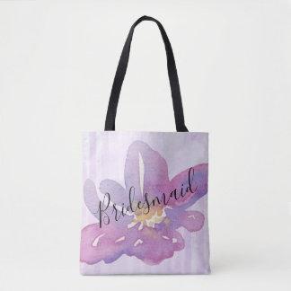 Aquarell-violetter Lavendel-Blumenbrautjungfer Tasche