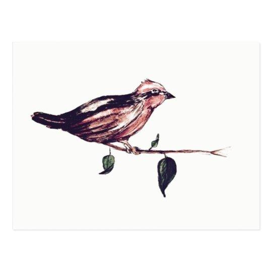 Aquarell Vogel Postkarte