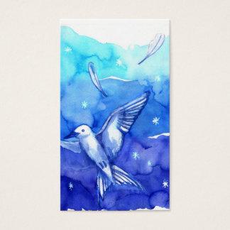 AQUARELL-Vogel Visitenkarte-Schablone Visitenkarte