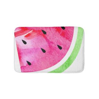 Aquarell-Wassermelone Badematte
