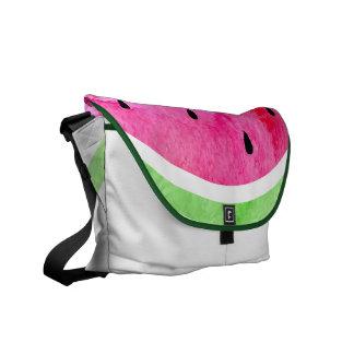 Aquarell-Wassermelone Kuriertasche