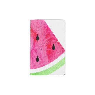 Aquarell-Wassermelone Moleskine Taschennotizbuch
