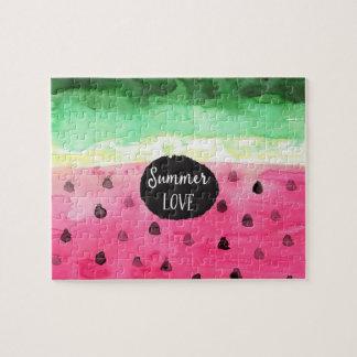 Aquarell-Wassermelone Puzzle