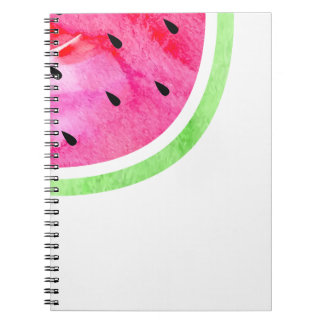 Aquarell-Wassermelone Spiral Notizblock