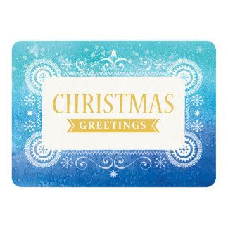 Aquarell-Weihnachten 11,4 X 15,9 Cm Einladungskarte