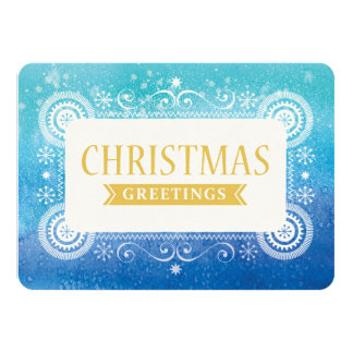 Aquarell-Weihnachten Ankündigungskarten