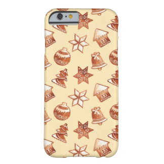 Aquarell-Weihnachtsingwerplätzchen Barely There iPhone 6 Hülle
