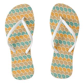 Aquarell-Wellen-Muster Flip Flops