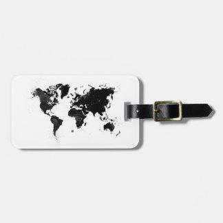 Aquarell-Weltkarte Gepäck Anhänger