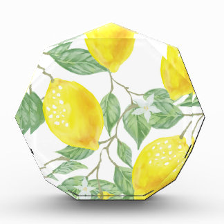 Aquarell-Zitrone Acryl Auszeichnung