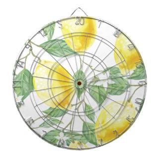 Aquarell-Zitrone Dartscheibe