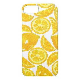 Aquarell-Zitronen-Scheiben iPhone 8/7 Hülle