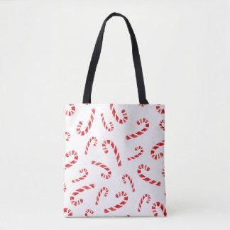 Aquarell-Zuckerstange-Muster Tasche