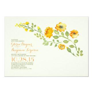 AquarellBlume-niedliche Blumenhochzeitseinladung 12,7 X 17,8 Cm Einladungskarte
