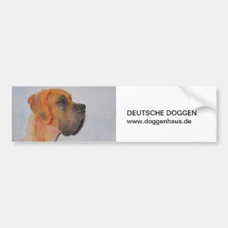 Aquarelle Great Dane fawn cards Autoaufkleber