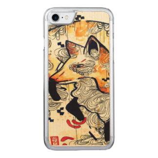 Aquarellfuchs, kitsune, ukioy-e Kunstholz iPhone6 Carved iPhone 8/7 Hülle