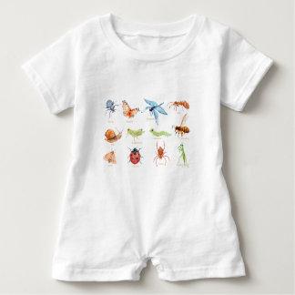 Aquarellinsektenillustration Baby Strampler