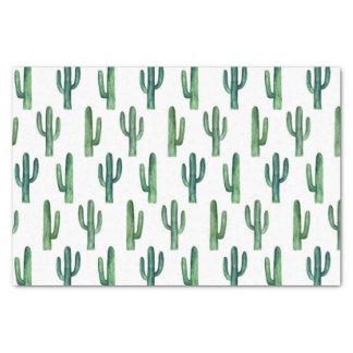 Aquarellkaktus. Grünes Kaktusmuster. Modern Seidenpapier