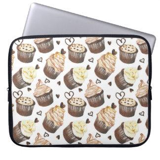 Aquarellkleine kuchen laptop sleeve