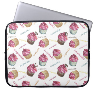 Aquarellkleine kuchen laptopschutzhülle