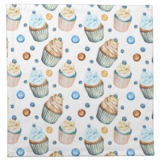 Aquarellkleine kuchen serviette