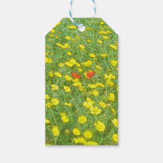 Aquarellmohnblumen Geschenkanhänger