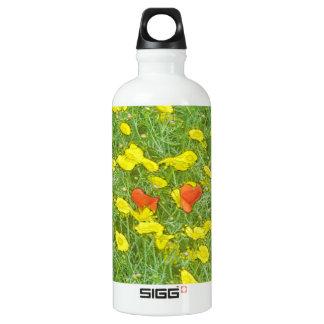 Aquarellmohnblumen Wasserflasche