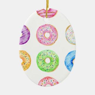 Aquarellschaumgummiringmuster Keramik Ornament