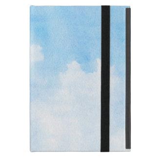 Aquarellwolken und Himmelhintergrund iPad Mini Etui