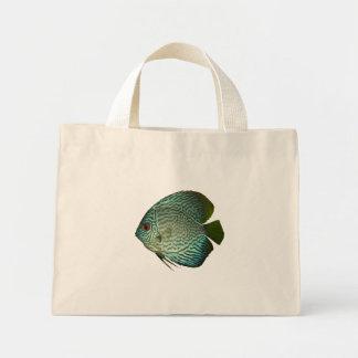 Aquarium-T - Shirtblauer Discus-tropische Fische Mini Stoffbeutel