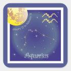 Aquarius January 21 to February 18 Aufkleber