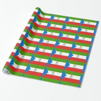 Äquatoriale Guinea-Flagge Geschenkpapier