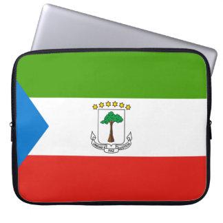 Äquatoriale Guinea-Flagge Laptopschutzhülle
