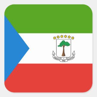Äquatoriale Guinea-Flagge Quadratischer Aufkleber