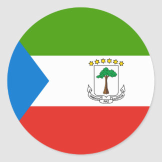 Äquatoriale Guinea-Flagge Runder Aufkleber