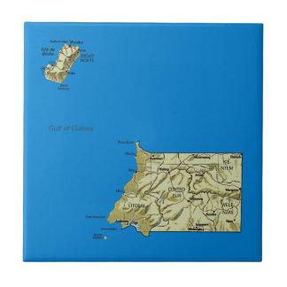 Äquatoriale Guinea-Karten-Fliese Fliese