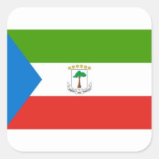 Äquatoriale Guinea-nationale Weltflagge Quadratischer Aufkleber