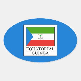 Äquatoriale Guinea Ovaler Aufkleber
