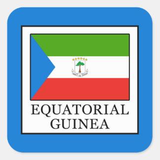 Äquatoriale Guinea Quadratischer Aufkleber