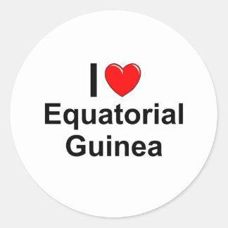 Äquatoriale Guinea Runder Aufkleber
