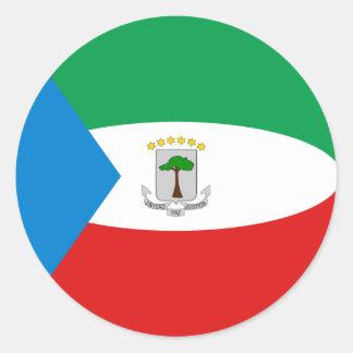 Äquatorialer Guinea Fisheye Flaggen-Aufkleber Runder Aufkleber